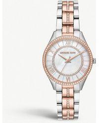 3bdc35efb916 Michael Kors - Mk3979 Lauryn Silver And Rose-gold Plated Stainless Steel  And Crystal Embellished