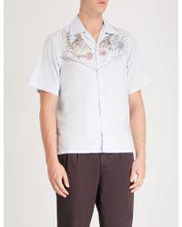 Prada - Western-print Boxy-fit Cotton Shirt - Lyst