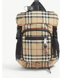 Burberry - Vintage Check Cross-body Backpack - Lyst