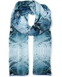 Beatrice Jenkins - Blue Goddess Silk Scarf - Lyst