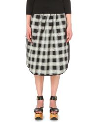 Vivienne Westwood Anglomania - Checked Woven Skirt - Lyst