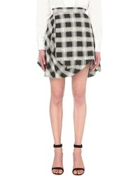Vivienne Westwood Anglomania - Slash Checked Skirt - Lyst