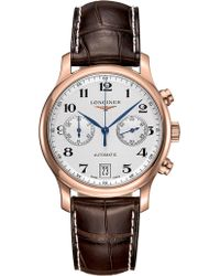 Longines - L26698783 Master Collection Rose-gold And Leather Automatic Watch - Lyst