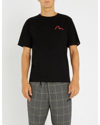 Evisu - Godhead-graphic Cotton-jersey T-shirt - Lyst