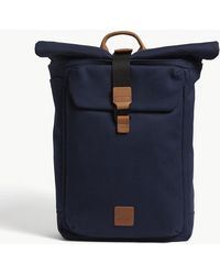 Knomo - Fulham Novello Roll-top Canvas Backpack - Lyst