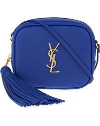 huge leather handbags - Saint laurent Monogram Blogger Leather Cross-Body Bag in Beige ...