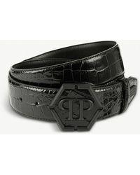Philipp Plein - Fyodor Patent-leather Belt - Lyst