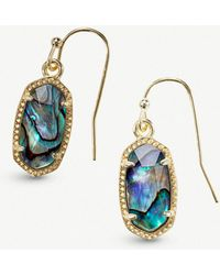 Kendra Scott - Lee 14ct Gold-plated And Abalone Shell Earrings - Lyst