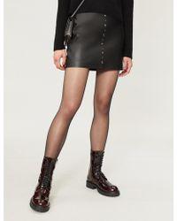 Pinko - Simone Leather Mini Skirt - Lyst