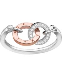Thomas Sabo - Together Sterling Silver And Diamond Ring - Lyst