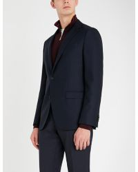 BOSS - Textured Regular-fit Wool Blazer - Lyst