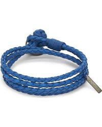 Bottega Veneta - Double Weave Leather Bracelet - Lyst