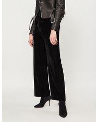 The Kooples - High-rise Velvet Trousers - Lyst