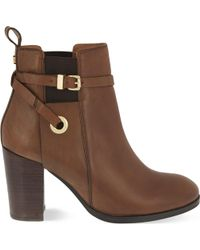 Carvela Kurt Geiger | Stacey Leather Ankle Boots | Lyst