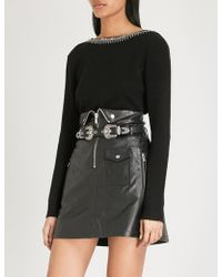 The Kooples - Embellished Wool And Cashmere-blend Jumper - Lyst