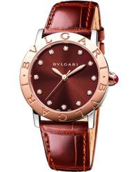 BVLGARI - Bulgari Bulgari Lady 18kt Pink-gold And Alligator Watch - Lyst