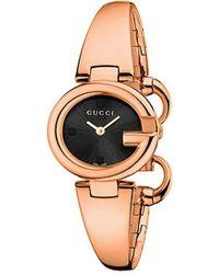 68368ea3e61 Gucci Ya112438 Twirl Large Pink-gold Pvd Watch in Metallic - Lyst