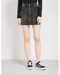 Cheap Monday - Zipped Denim Skirt - Lyst