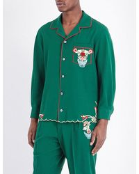 Gucci - Embroidered Wool Pyjama Shirt - Lyst