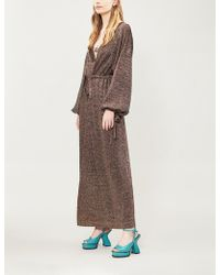Missoni - Drawstring-tie Metallic-knit Maxi Dress - Lyst