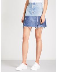 Ksenia Schnaider - Reworked Denim Mini Skirt - Lyst