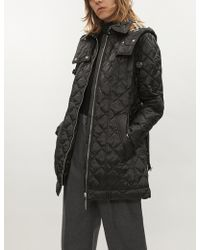 Burberry - Baughton Diamond-quilted Shell Parka Coat - Lyst