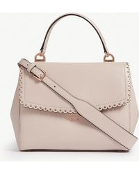 MICHAEL Michael Kors - Michael Kors Soft Pink Ava Scalloped Leather Satchel - Lyst