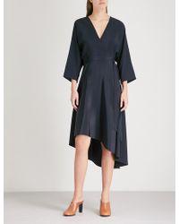 Diane von Furstenberg - Asymmetric-hem Silk Dress - Lyst