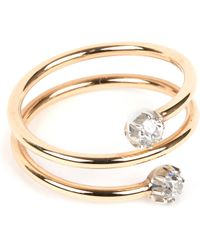 Annina Vogel - 9 Carat Gold And Diamond Toi Et Moi Ring - Lyst