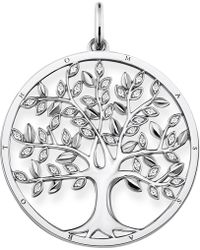 Thomas Sabo - Tree Of Love Sterling Silver And Zirconia Pendant - Lyst