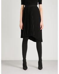 Balenciaga - Pleated Woven Skirt - Lyst