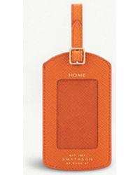 Smythson - Panama Leather Luggage Tag - Lyst