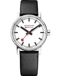 Mondaine - Mse-35110-lb Evo2 Leather And Stainless Steel Watch - Lyst