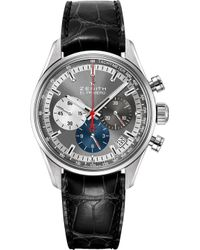 Zenith - 03.2150.400/26.c714 El Primero Stainless Steel And Alligator Leather Watch - Lyst
