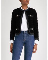 Claudie Pierlot - Quilted Velvet Jacket - Lyst