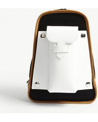 Maison Margiela - Suede And Leather Backpack - Lyst