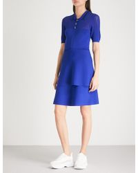 Claudie Pierlot - Striped-collar Knitted Dress - Lyst