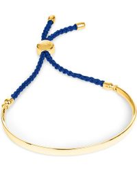 Monica Vinader - Fiji 18ct Gold-plated Friendship Bracelet - Lyst