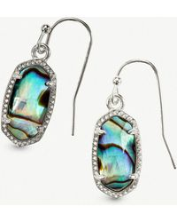 Kendra Scott - Lee Rhodium-plated And Abalone Shell Earrings - Lyst