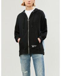 5cm - Denim Detail Cotton-jersey Hoody - Lyst