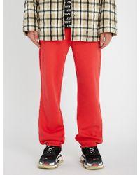 Balenciaga - Logo-print Cotton-blend Jogging Bottoms - Lyst