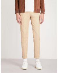 Paul Smith - Slim-fit Tapered Cotton-sateen Trousers - Lyst