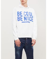 DSquared² - Be Cool Be Nice Cotton Hoody - Lyst