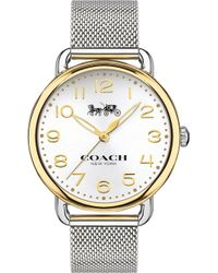 COACH - 14502802 Delancey Gold-plated And Stainless Steel Watch - Lyst
