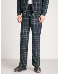 Blood Brother - Check-pattern Textured Trousers - Lyst