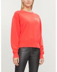 Rag & Bone - Slogan-embroideried Cotton Sweatshirt - Lyst