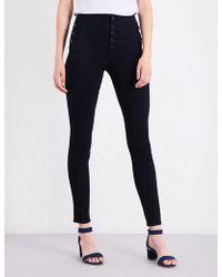 J Brand - Natasha Straight High-rise Jeans - Lyst