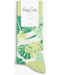 Happy Socks - Jungle Leaf Cotton-blend Socks - Lyst