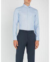 Smyth & Gibson - Checked Slim-fit Cotton Shirt - Lyst