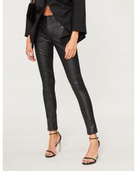 Forever Unique - High-rise Skinny Faux-leather Trousers - Lyst
